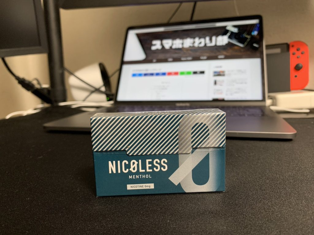 nicoless menthol package image